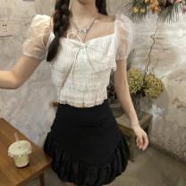 skirt Summer 2021 S, M Layered shirt, skirt Short skirt commute Other / other Retro
