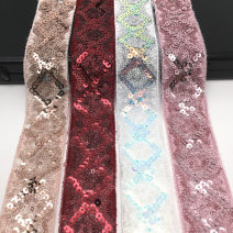 Fabric / fabric / handmade DIY fabric chemical fiber Gold, black, silver, pink, white, red, meat pink Loose shear piece Plants and flowers other clothing Japan and South Korea JC8808 Chinese Mainland