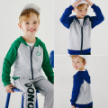 Plain coat Top one kids male Sign 90 is about 90, sign 100 is about 100, sign 110 is about 110, sign 120 is about 120, sign 130 is about 130 Green, blue spring and autumn Korean version Zipper shirt No model routine No detachable cap other cotton Crew neck Cotton 95% polyester 5% Class B