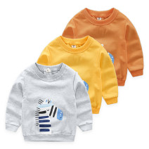 Sweater / sweater Top one kids Grey, yellow, orange male Sign 90 is about 90, sign 100 is about 100, sign 110 is about 110, sign 120 is about 120, sign 130 is about 130 spring and autumn nothing Korean version Socket routine No model cotton Cartoon animation Cotton 95% polyester 5% CY2538 Class B