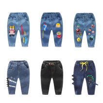 trousers Top one kids male Sign 90 suggests height 90, sign 100 suggests height 100, sign 110 suggests height 110, sign 120 suggests height 120, sign 130 suggests height 130 spring and autumn trousers Korean version No model Jeans Leather belt middle-waisted Denim Open crotch CK1215 Class B