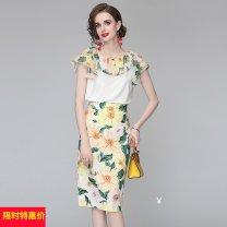 Professional dress suit Summer 2020 Short sleeve 25-35 years old 91% (inclusive) - 95% (inclusive) cotton Graph color M,L,XL,XXL