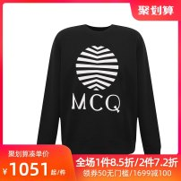 Sweater MCQ ALEXANDER MCQUEEN Youth fashion other Condom routine Crew neck spring Straight tube youth leisure time Basic public raglan sleeve 545415 ROT08 Cotton 100% Spring 2020 Same model in shopping malls (both online and offline) 1000 black S M L XL