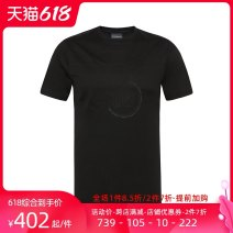 T-shirt 3G1TL1 1JTUZ Cotton 100% Summer of 2019 Same model in shopping malls (both online and offline) youth routine Youthful vitality Short sleeve routine daily Fashion City standard Armani / Armani Crew neck summer Alphanumeric cotton Brand logo International brands More than 95% S M L XL 2XL