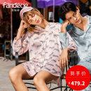 Nightdress Fandecie  Grey Pink LPK M,L,XL Sweet Long sleeves Leisure home Short skirt summer other youth printing polyester fiber FLP0138