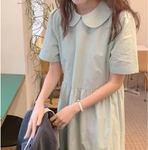 Dress Spring 2021 Mint Average size Mid length dress singleton  Short sleeve commute Doll Collar 18-24 years old Type H Other / other