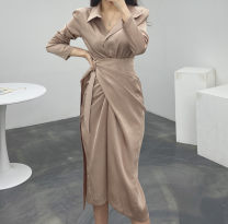 Dress Spring 2021 Black, khaki S, M Other / other