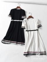 Dress Summer of 2018 White black Average size DGJQ125