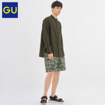 Casual pants Gu Youth fashion 01 milky white 165/72A/S 170/80A/M 175/88A/L 180/96B/XL Shorts (up to knee) Other leisure Straight cylinder GU325441000 Cotton 100% Summer 2020 Same model in shopping mall (sold online and offline)