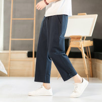Casual pants Others Youth fashion M,L,XL,2XL,3XL,4XL,5XL routine Ninth pants Other leisure easy No bullet K68 summer youth Chinese style 2020 middle-waisted Solid color