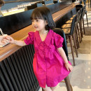 Dress Plum blossom female Other / other Other 100% summer princess Short sleeve Solid color cotton Princess Dress Class B 18 months, 2 years old, 3 years old, 4 years old, 5 years old, 6 years old, 7 years old, 8 years old