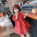 Dress gules female Other / other 90cm,100cm,110cm,120cm,130cm Other 100% summer Korean version Short sleeve Dot cotton Princess Dress MLQ5179 Class B 18 months, 2 years old, 3 years old, 4 years old, 5 years old, 6 years old, 7 years old, 8 years old