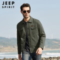 Jacket Jeep / Jeep Business gentleman Black, army green, khaki, blue, army green, khaki M,L,XL,2XL,3XL,4XL routine easy Other leisure spring 2676# Cotton 100% Long sleeves Wear out Lapel Military brigade of tooling middle age routine Single breasted 2021 washing Loose cuff Solid color cotton