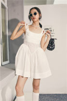 Dress Summer 2020 white S, M Short skirt singleton  Sleeveless camisole Type A Other / other 31% (inclusive) - 50% (inclusive)