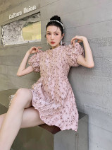 Dress Summer 2021 Pearlescent powder, beige brown S,M,L Middle-skirt singleton  High waist 18-24 years old Type A Other / other