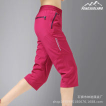 Quick drying pants female 101-200 yuan Tiger land Black, rose K16 L,XL,4XL,5XL,6XL,2XL,3XL Cropped Trousers summer Outing, mountaineering, beach Waterproof, breathable, quick drying, ultra light Summer 2020 China nylon other