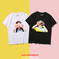 T-shirt neutral summer Short sleeve Crew neck Cartoon There are models in the real shooting nothing cotton Cartoon animation Cotton 100% Class B Sweat absorption 14, 13, 12, 11, 10, 9, 8, 7, 6, 5, 4, 3, 2, 18 months, 9 months, 12 months, 6 months, 3 months Chinese Mainland