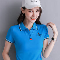 T-shirt M,L,XL,2XL,3XL Summer 2021 Short sleeve Polo collar Self cultivation routine commute cotton 96% and above Korean version classic PDD-88420353628 Button, solid color