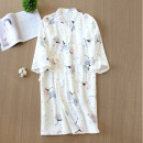 Nightgown / bathrobe Other / other female M, l Thin money Simplicity cotton spring More than 95% Medium length (knee to Mid Calf) Plants and flowers youth