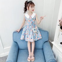 Dress Blue, pink female Other / other The recommended height is about 100cm for Size 110, 110cm for Size 120, 120cm for Size 130, 130cm for size 140, 140cm for size 150 and 150cm for size 160 Cotton 95% other 5% summer princess Short sleeve cotton other Class B
