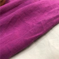 Fabric / fabric Purple half rice plus collection priority delivery Pengyu Pure flax Spring and autumn sand wash purple linen clothing cloth Chinese Mainland rice