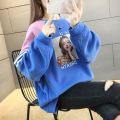 Sweater / sweater Autumn of 2019 M,L,XL,2XL Long sleeves Medium length Socket singleton  routine Crew neck easy commute raglan sleeve character 51% (inclusive) - 70% (inclusive) Korean version polyester fiber Printing, splicing cotton