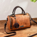 Bag Inclined shoulder bag PU Small round bun Tianyan brand new Japan and South Korea in leisure time soft zipper no Solid color Single root One shoulder portable messenger Yes youth Pillow shape Sewing Soft handle polyester fiber soft surface Open your pocket