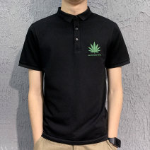 Polo shirt Other / other Youth fashion Plush and thicken White, black, apricot M,L,XL,2XL,3XL Extra wide go to work Four seasons Short sleeve 3319PL Youthful vigor routine youth Other 100% Plants and flowers other other other