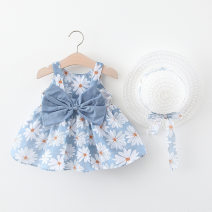 Dress Gray, yellow, pink, orange female Other / other 73cm,80cm,90cm,100cm Cotton 95% other 5% summer Korean version Skirt / vest Broken flowers cotton A-line skirt Class A 3 months, 12 months, 6 months, 9 months, 18 months, 2 years old, 3 years old, 4 years old