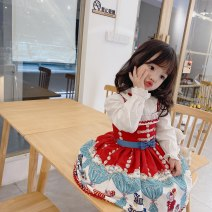 Dress Circus suspender skirt, plush shirt, no Plush shirt female Other / other 80cm,90cm,100cm,110cm,120cm,130cm,140cm,150cm Cotton 100% spring and autumn princess Skirt / vest Cartoon animation polyester fiber A-line skirt 12 months, 2 years old, 3 years old, 4 years old, 5 years old, 6 years old