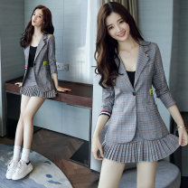 suit Autumn 2020 6133 grey blue three piece set, 6278 orange three piece set, 6278 grey three piece set, 6278 purple three piece set, 6133 single skirt S. M, l, XL, 2XL, order sling for today's event Long sleeves have cash less than that is registered in the accounts Self cultivation tailored collar