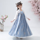 Tang costume sky blue 100,110,120,130,140,150,160 Polyester 100% female summer There are models in the real shooting Thin money Class B Broken flowers Cotton liner 7, 8, 14, 3, 6, 13, 11, 5, 4, 10, 9, 12 Chinese Mainland Jiangsu Province Suzhou