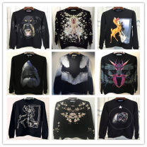 Sweater / sweater Fall 2017 XS,S,M,L,XL,2XL,3XL Long sleeves routine Socket singleton  routine Crew neck easy street routine Cartoon animation 25-29 years old 96% and above Mia Kim cotton printing cotton Europe and America