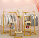 Clothing display rack Curved side hanging, t-105 small, t-105 medium, t-105 large, t-105 three piece set, four piece set, five piece set, six piece set, a model, six piece set, B model, seven piece set, square plate model, triangle model, universal wheel model clothing iron JS108 Chuang tie