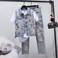 Fashion suit Summer of 2018 S Vest + pants 26, m Vest + pants 27, l Vest + pants 28, XL Vest + pants 29, XL Vest + pants 30 Vest, pants, Vest + pants Other / other 515-2 31% (inclusive) - 50% (inclusive) cotton