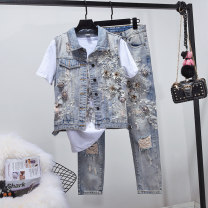 Fashion suit Summer of 2018 S Vest + pants 26, m Vest + pants 27, l Vest + pants 28, XL Vest + pants 29, XL Vest + pants 30 Vest, pants, Vest + pants Other / other 515-2 31% (inclusive) - 50% (inclusive) cotton