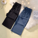 Women's large Summer 2021 Blue, black XL [120-135 Jin], 2XL [135-150 Jin], 3XL [150-165 Jin], 4XL [165-180 Jin], 5XL [180-200 Jin] trousers singleton  commute easy moderate Korean version Three dimensional cutting trousers