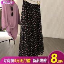 skirt Summer 2021 S,M,L Mid length dress commute High waist A-line skirt Decor Type A 31% (inclusive) - 50% (inclusive) other other Flocking