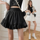 skirt Spring 2021 S,M,L White, black Short skirt Versatile High waist Pleated skirt Solid color Type A 18-24 years old 71% (inclusive) - 80% (inclusive) Ruffles, folds