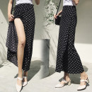 skirt Summer 2021 One size fits all [adjustable waistline] longuette Versatile Natural waist Irregular Dot Type A 18-24 years old Chiffon