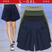 Women's large Summer 2017 Army green, Navy, black, khaki Large XL, large XXL, large XXL, large XXXXL, large XXXXL, large L street easy moderate Solid color Collage Other / other shorts