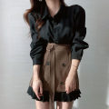 Fashion suit Spring 2021 Average size Black dress, coffee dress, black skirt, coffee skirt 18-25 years old Other / other