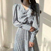 Dress Spring 2020 Blue, yellow, black Average size longuette singleton  Long sleeves commute other middle-waisted other other routine Others 18-24 years old Other / other Korean version