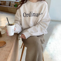 Sweater / sweater Winter 2020 Average size Long sleeves routine Socket singleton  Plush Crew neck easy commute routine letter 18-24 years old Other / other Korean version