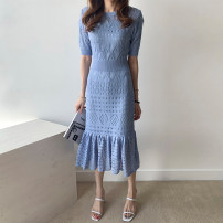Dress Spring 2020 Average size Miniskirt singleton  Sleeveless commute Crew neck High waist Solid color Socket other other Others 18-24 years old Type H Korean version 71% (inclusive) - 80% (inclusive) other cotton