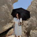 Women's large Summer 2020 White, black S [recommended 86-100 kg], m [recommended 100-110 kg], l [recommended 110-125 kg], XL [recommended 125-140 kg], 2XL [recommended 140-160 kg], 3XL [recommended 160-180 kg], 4XL [recommended 180-200 kg] Dress singleton  easy moderate Cardigan Short sleeve Bandage