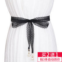 Belt / belt / chain other Black, white female belt Versatile Single loop Youth, youth, middle age a hook other soft surface 3.8cm alloy Lace, lace Other / other bl19043001 150cm