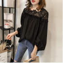 Lace / Chiffon Spring of 2019 M,L,XL,2XL,3XL Long sleeves commute Socket singleton  easy routine 18-24 years old Other / other Korean version