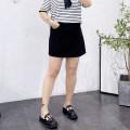 Women's large Spring 2021, summer 2021 black Large XL, 2XL, 3XL, 4XL skirt singleton  easy thin Solid color polyester Three dimensional cutting Short skirt