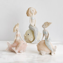 Ornaments character resin Nordic style Elegant lady looking at Lady lovely girl ponytail girl braided girl miss girl wish girl playful girl sweet girl gentle Mermaid brave Mermaid happy Mermaid play Mermaid sleep Mermaid Tabletop ornaments Bedroom living room dining room study Youbei family Marriage